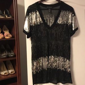 International Concepts Sequin See Through Top